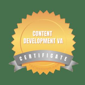 Content Development VA Certificate