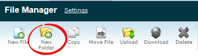 Add New Folder icon in cPanel