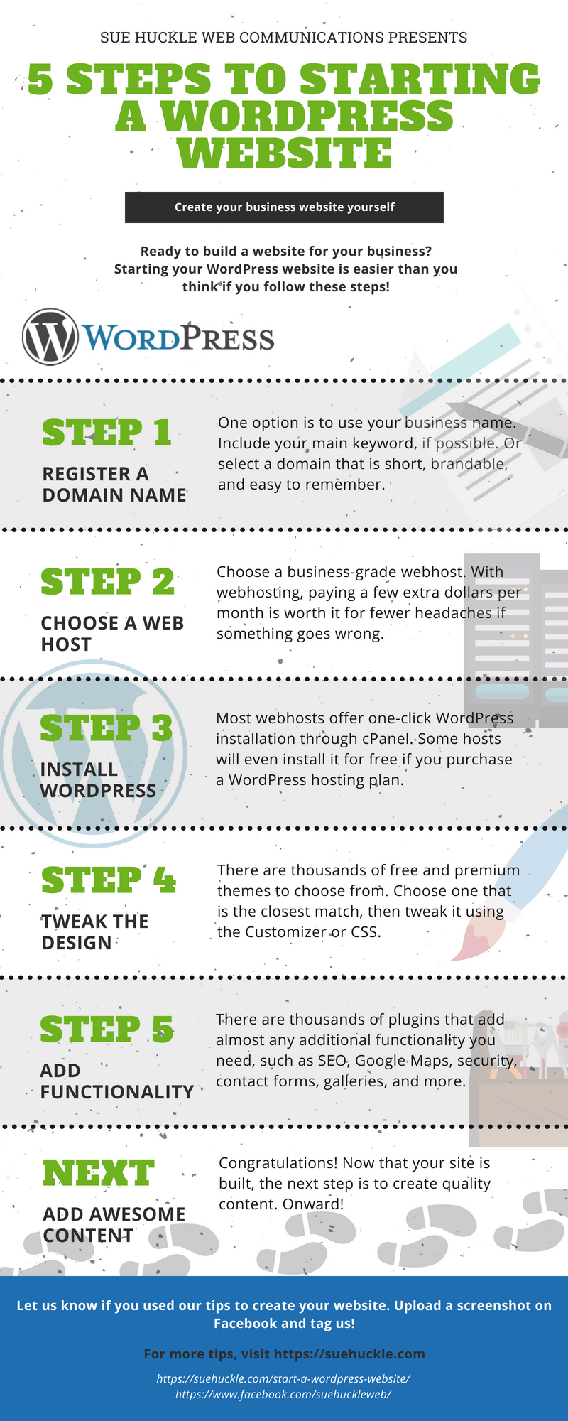 How to Start a WordPress Website infographic