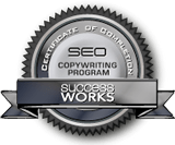 SuccessWorks SEO Copywriting certificate of completion